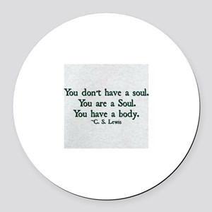 Soul and Body Round Car Magnet