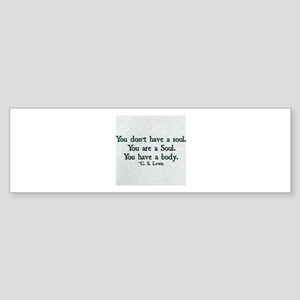 Soul and Body Bumper Sticker