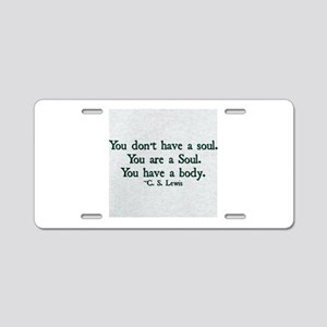 Soul and Body Aluminum License Plate