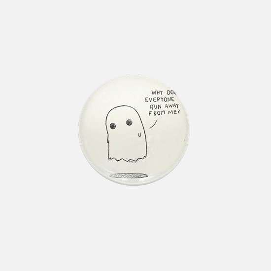 Misunderstood Ghost Mini Button
