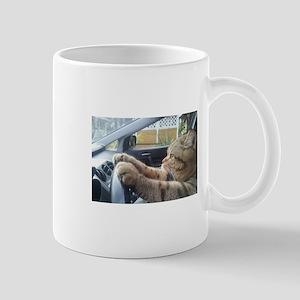Driving Cat Mugs