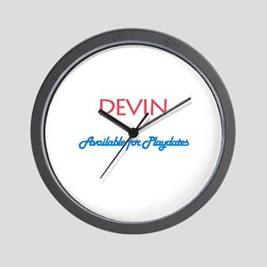 Devin - Available for Playdat Wall Clock