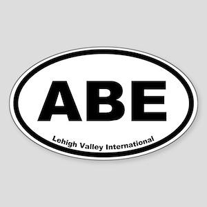 Lehigh Valley International Airport Oval Sticker