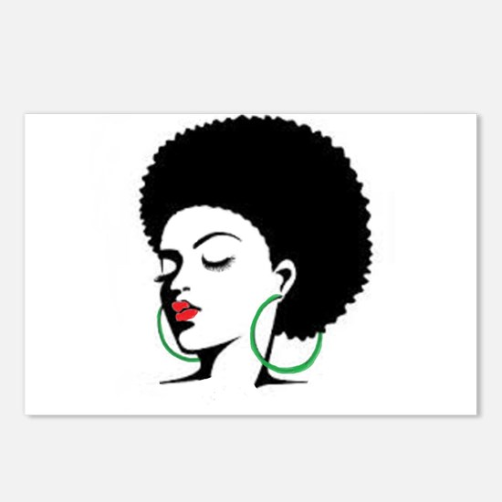 Funny Afro Postcards (Package of 8)