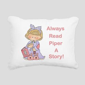 Read Piper a Story Rectangular Canvas Pillow