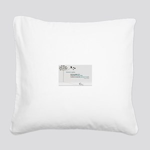 Einstein Square Canvas Pillow