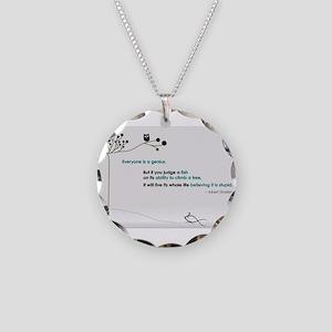 Einstein Necklace Circle Charm