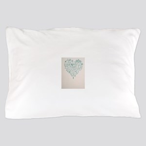 Science Heart Pillow Case