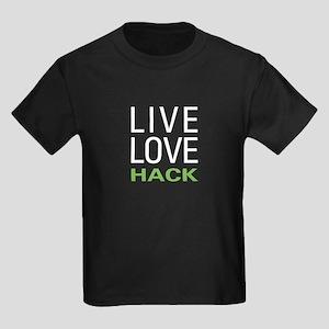 Live Love Hack Kids Dark T-Shirt
