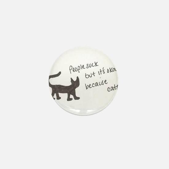 Because Cats Mini Button