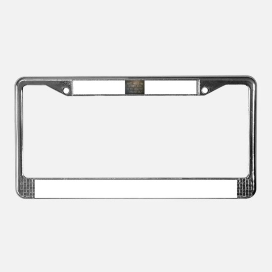 What would you attempt License Plate Frame