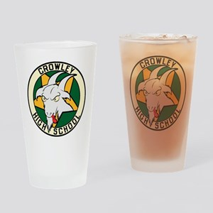 Crowley High School Drinking Glass