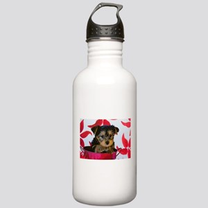 Christmas Yorkie Point Stainless Water Bottle 1.0L