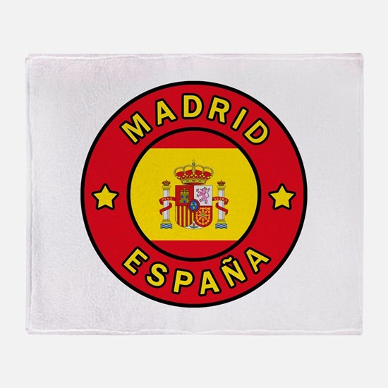 Madrid España Throw Blanket