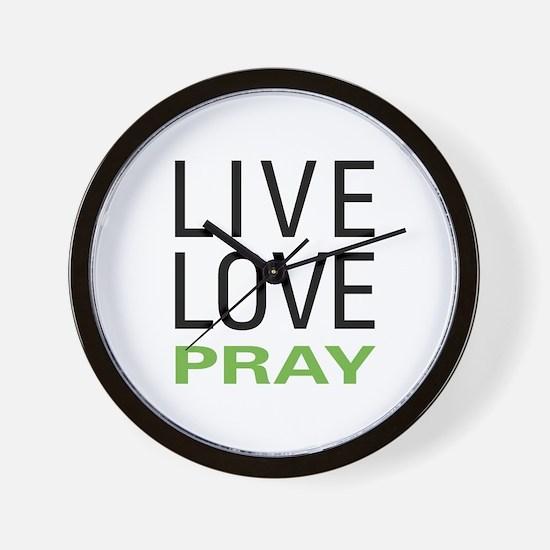 Live Love Pray Wall Clock