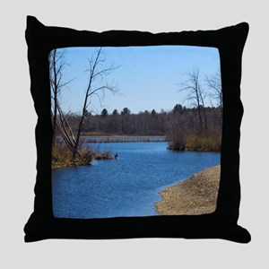Country river Throw Pillow