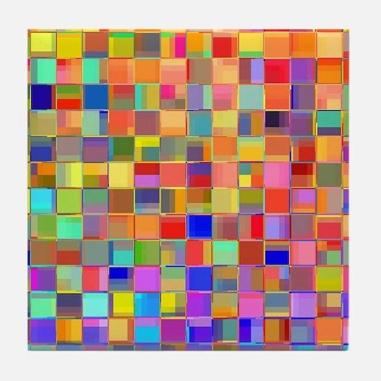 Color Mosaic Tile Coaster