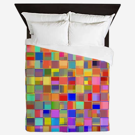 Color Mosaic Queen Duvet