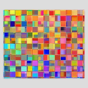 Color Mosaic King Duvet