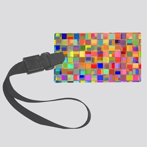 Color Mosaic Large Luggage Tag