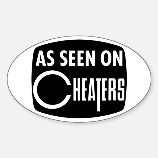 As Seen On Cheaters Oval Decal