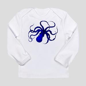 Vintage blue octopus Long Sleeve T-Shirt