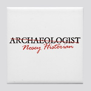 Archaeologist: Nosey Historia Tile Coaster