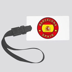 Barcelona Spain Large Luggage Tag