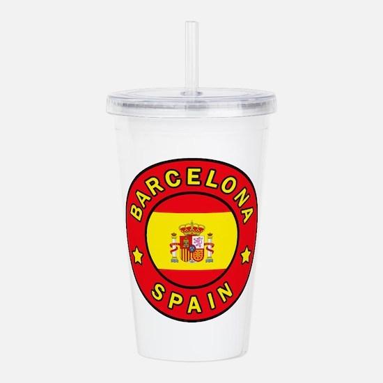 Barcelona Spain Acrylic Double-wall Tumbler