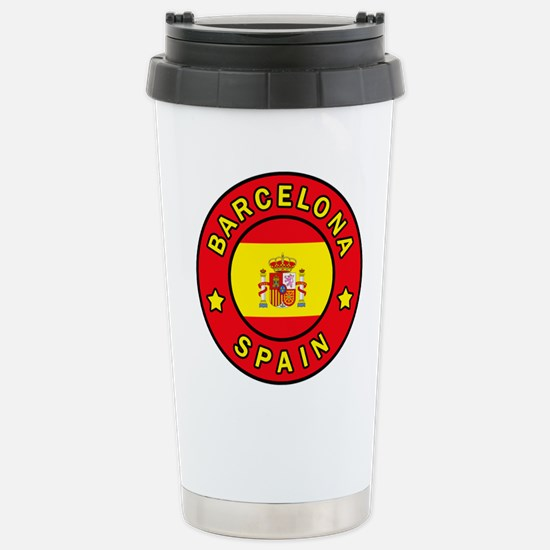Barcelona Spain Stainless Steel Travel Mug
