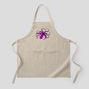 Purple vintage octopus Apron