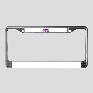 Purple vintage octopus License Plate Frame