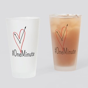 #OneMinute Heart Drinking Glass