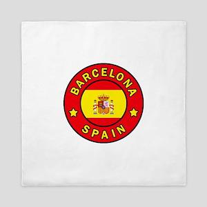 Barcelona Spain Queen Duvet