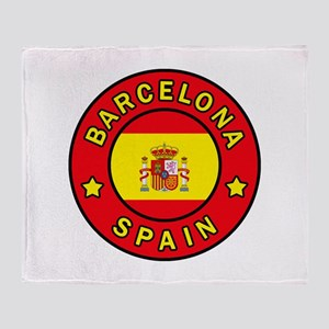 Barcelona Spain Throw Blanket