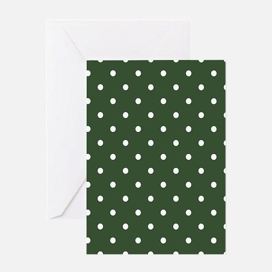 Green, Pine: Polka Dots Pattern (Sma Greeting Card