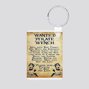 Pirate Wench Wanted Keychains