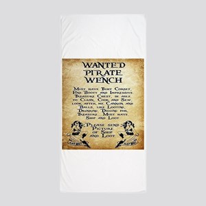 Pirate Wench Wanted Beach Towel