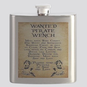 Pirate Wench Wanted Flask