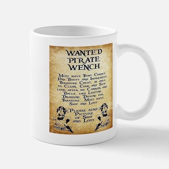 Pirate Wench Wanted Mugs