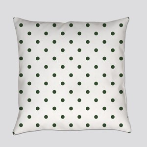Green, Pine: Polka Dots Pattern (S Everyday Pillow