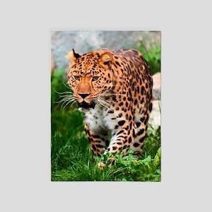 Leopard Big Cat 5'x7'area Rug