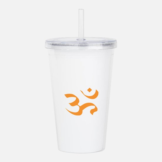 orange aum ohm Acrylic Double-wall Tumbler