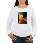 Cafe /Dachshund Women's Long Sleeve T-Shirt