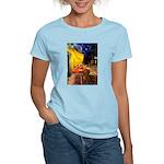 Cafe /Dachshund Women's Light T-Shirt