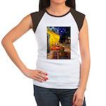 Cafe /Dachshund Women's Cap Sleeve T-Shirt
