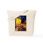 Cafe /Dachshund Tote Bag