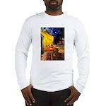 Cafe /Dachshund Long Sleeve T-Shirt