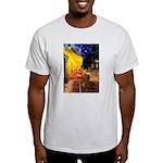 Cafe /Dachshund Light T-Shirt