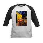Cafe /Dachshund Kids Baseball Jersey
